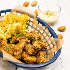 Nuggets légers (dinde-amande-thym) et sauce curry