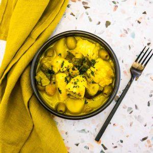 Tajine de lotte aux citrons confits et aux olives - la cerise sur le maillot