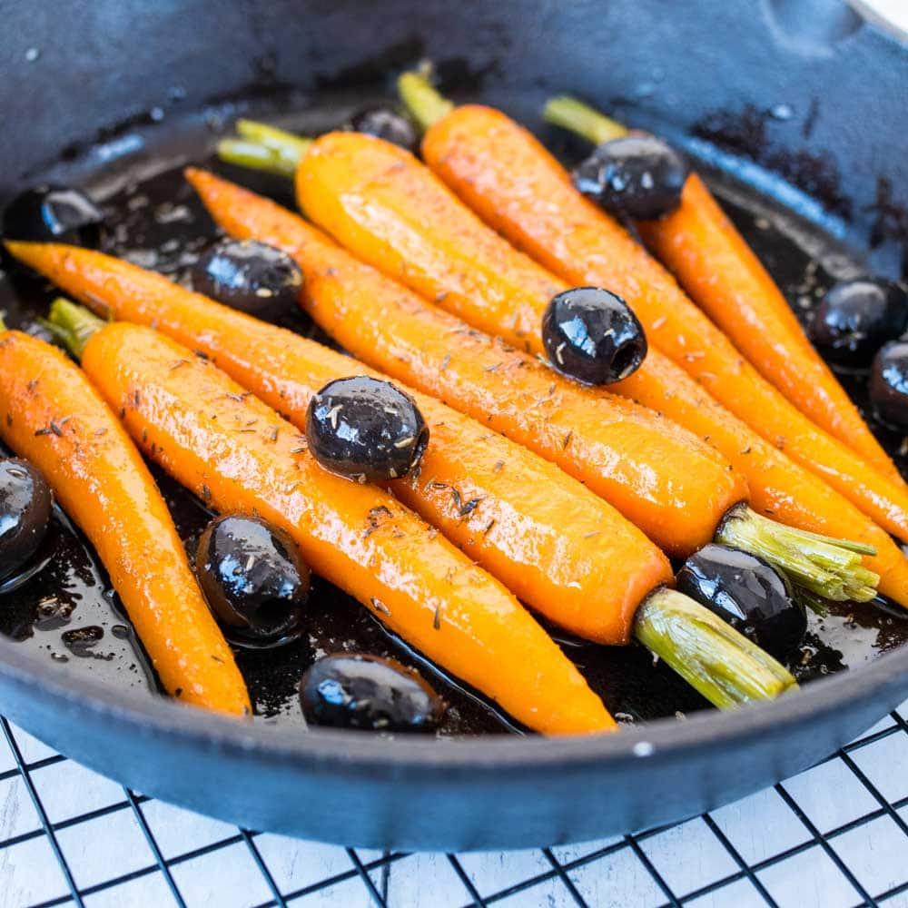 Carottes aux olives et au cumin - la cerise sur le maillot