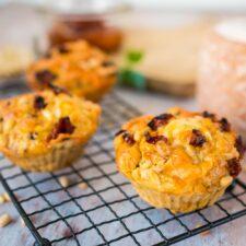 Muffins au P'tit Basque, courgette et tomates confites