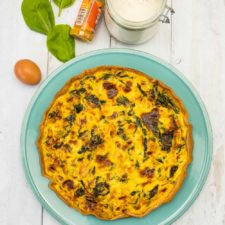Quiche dinde-épinards-curry