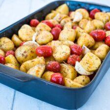 Pommes de terre primeur et tomates cerises