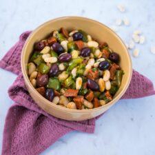Salade de mogettes, poivron et chorizo
