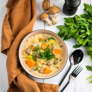Blanquette végétarienne aux haricots blancs - la cerise sur le maillot