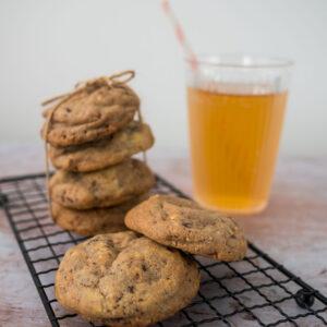 Cookies chocolat-noisettes - la cerise sur le maillot