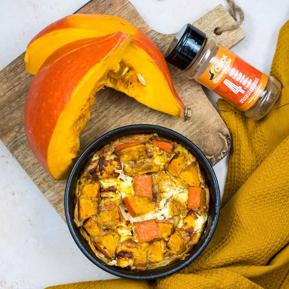 Clafoutis salé d'automne (potimarron-feta) - la cerise sur le maillot