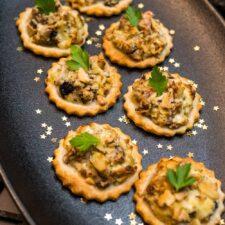 Mini-tartelettes apéritives au Boursin