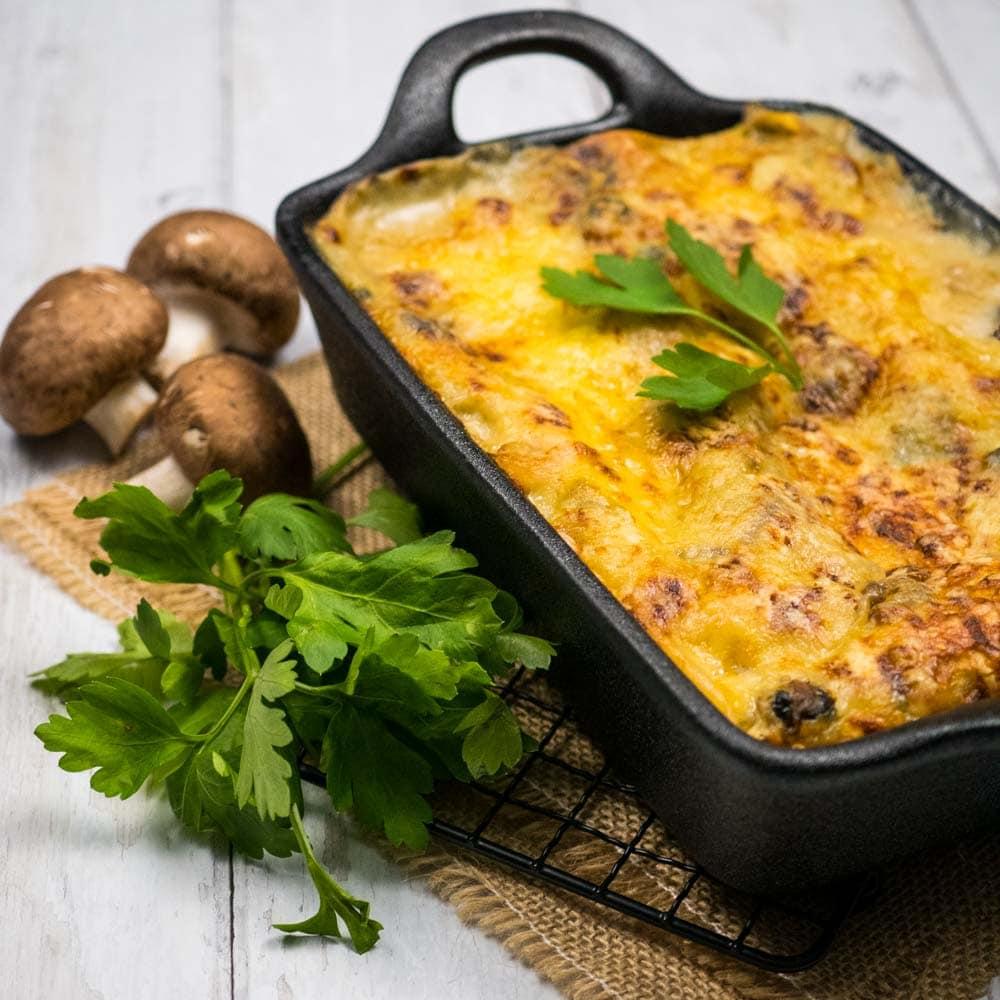 Lasagnes aux fruits de mer et champignons - la cerise sur le maillot