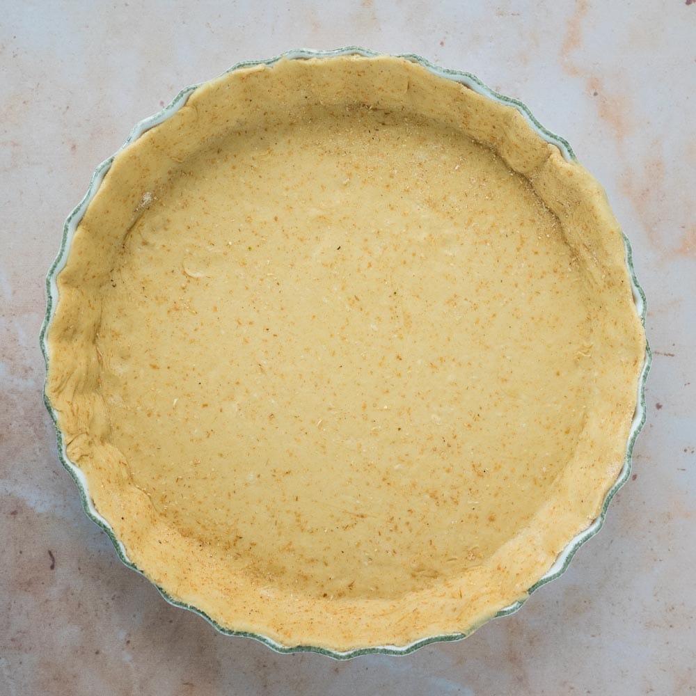 Pâte brisée à la farine semi-complète et à l'huile d'olive - la cerise sur le maillot