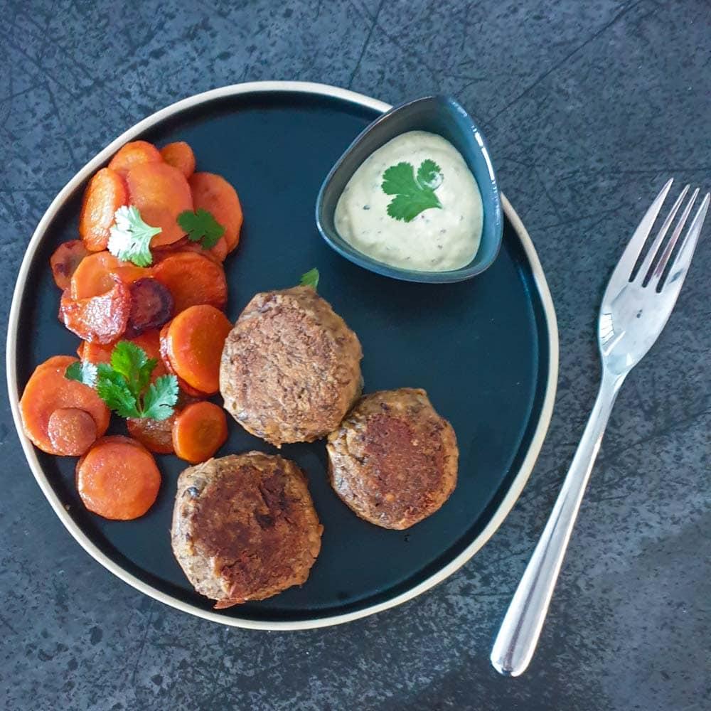 Rutabago - boulettes à la suédoise et carottes - la cerise sur le maillot