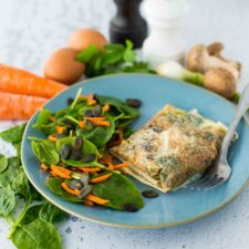 Bricks à l'œuf et aux légumes