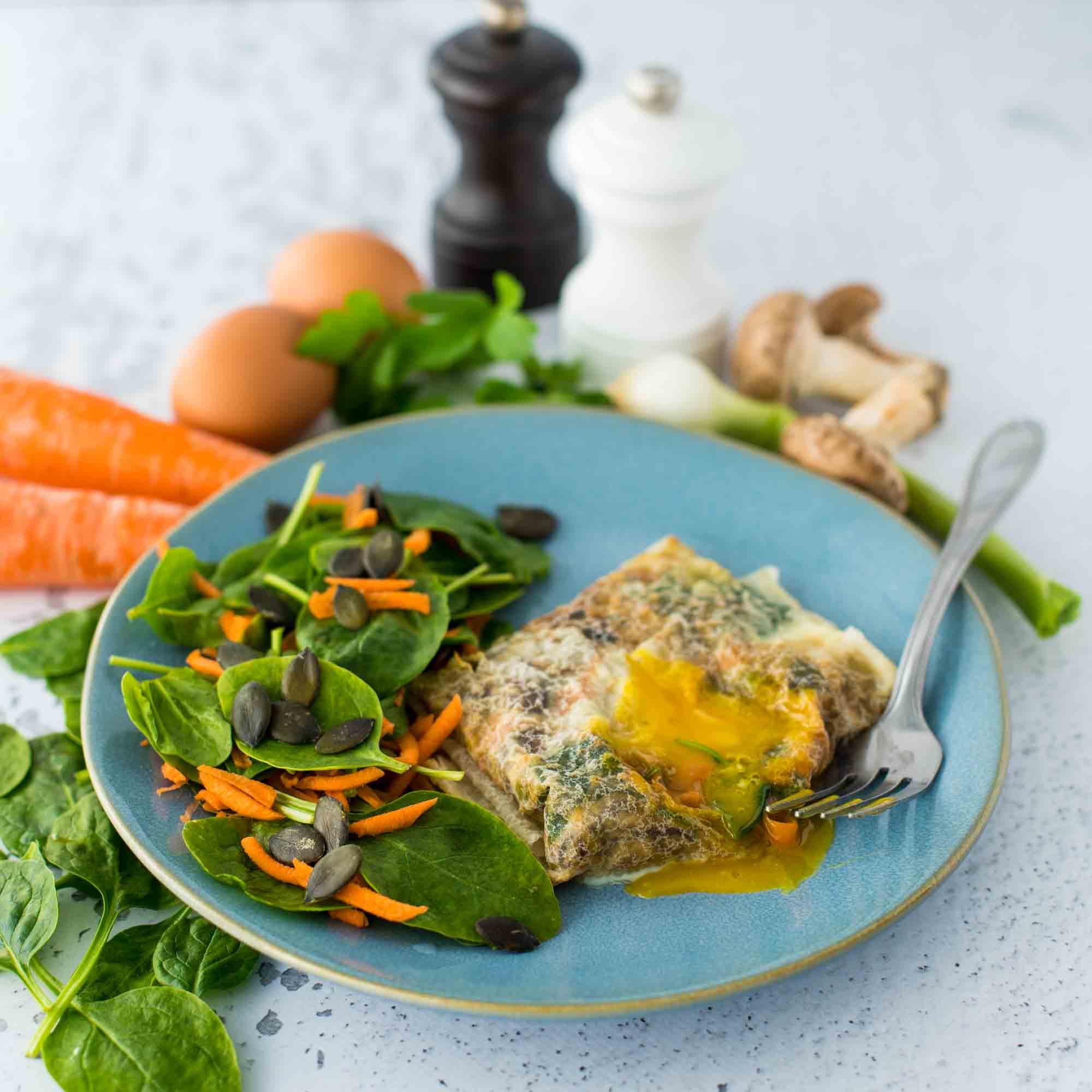 Bricks à l'œuf et aux légumes - la cerise sur le maillot