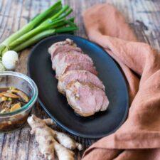 Filet mignon au soja et au gingembre, cuisson sous-vide
