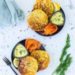 Pancakes de pommes de terre et aneth, sauce suédoise - la cerise sur le maillot