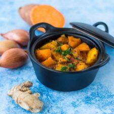 Vindaloo de patates douces et de pommes de terre (Ottolenghi)