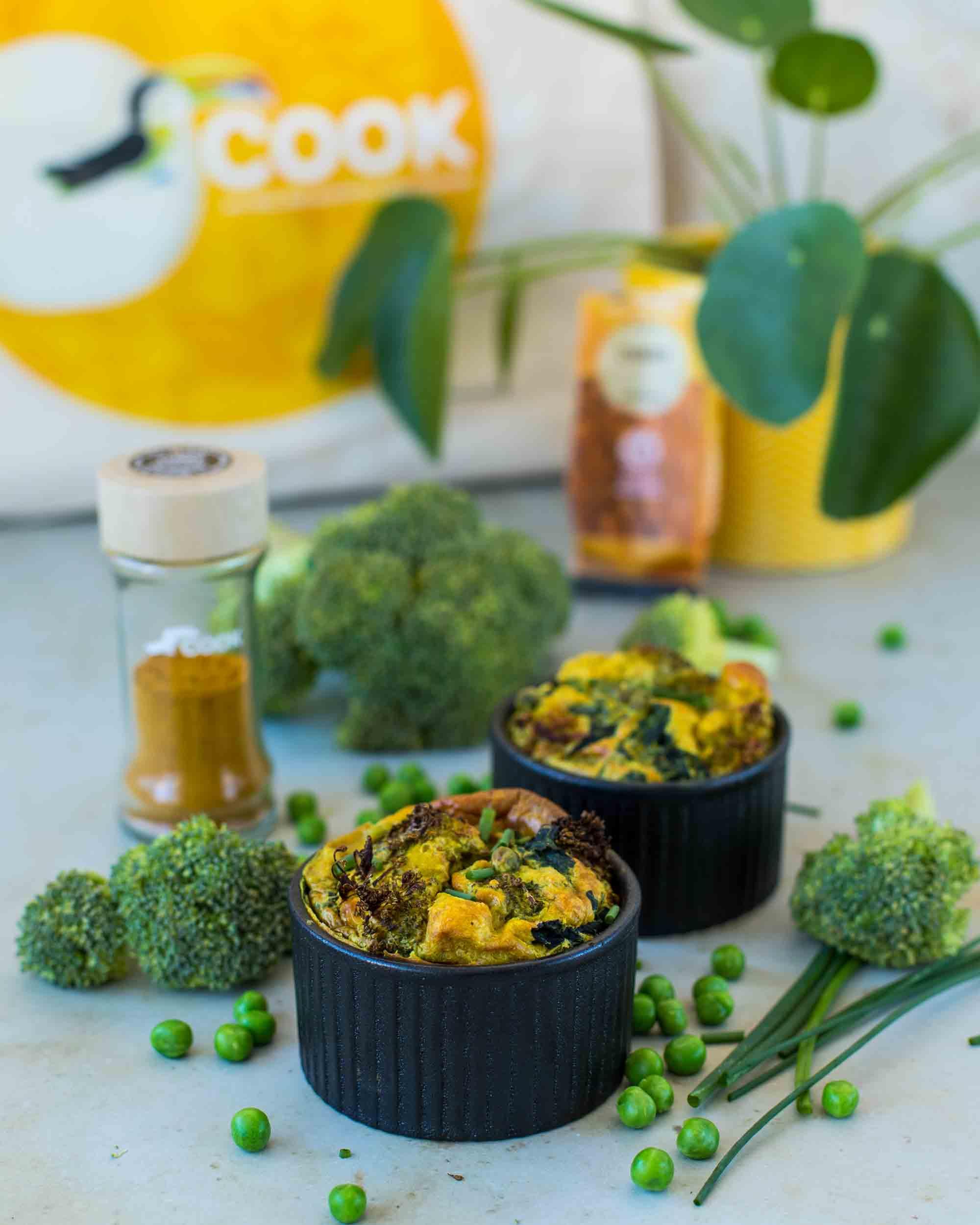 Mini-clafoutis aux légumes de printemps et au curry - la cerise sur le maillot