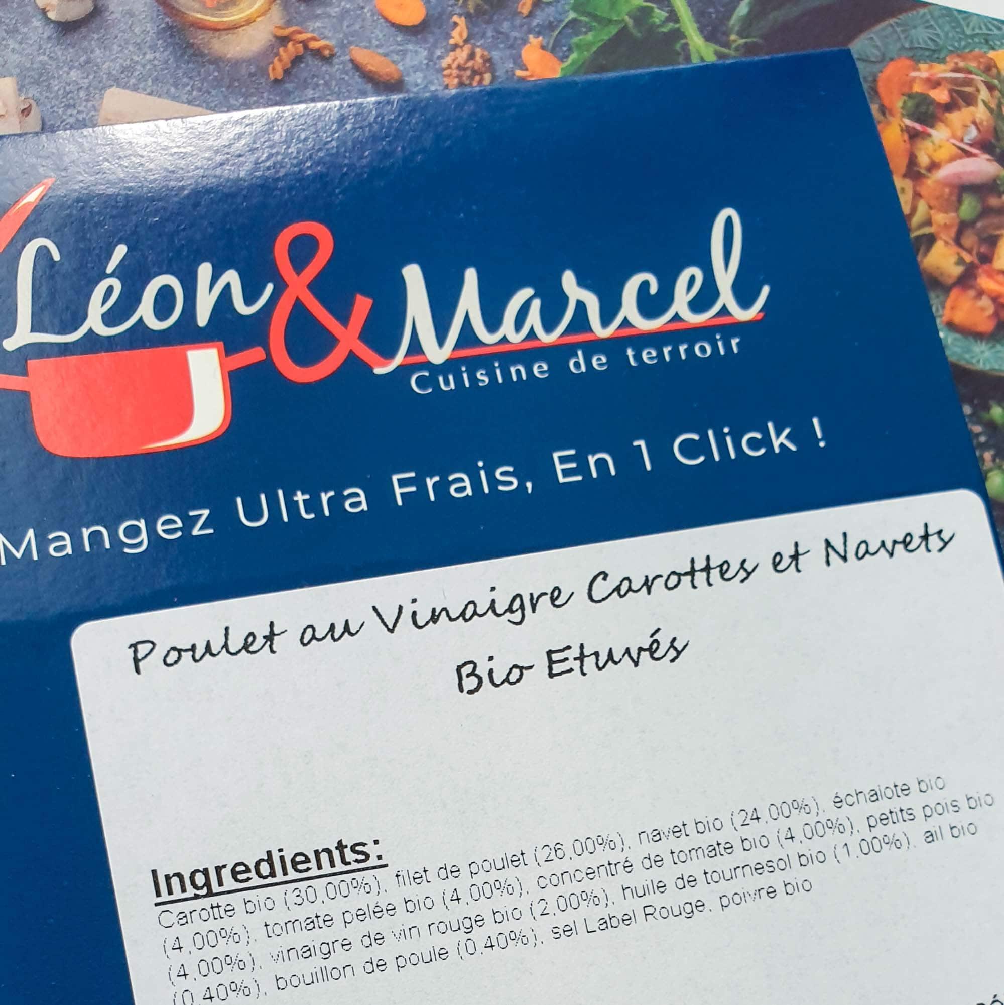 Léon et Marcel, des plats frais livrés chez moi - la cerise sur le maillot