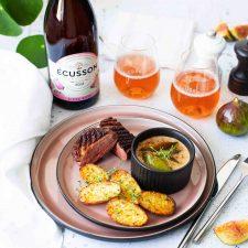 Magret sauce aux figues et au thym