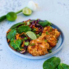Beignets de saumon au soja et au gingembre